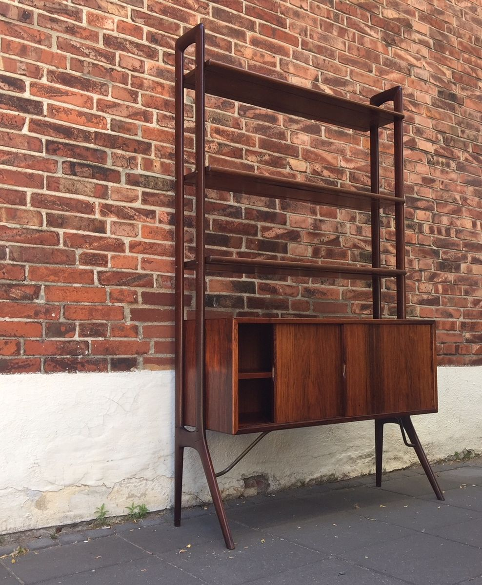 Rosewood Teak Bookshelf Unit By Kurt Stervig For K P Mbler 1960s
