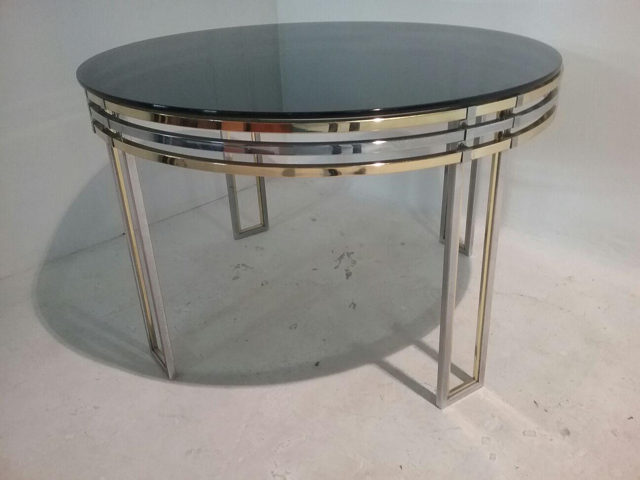 Runder Esstisch von Romeo Rega, 1970er