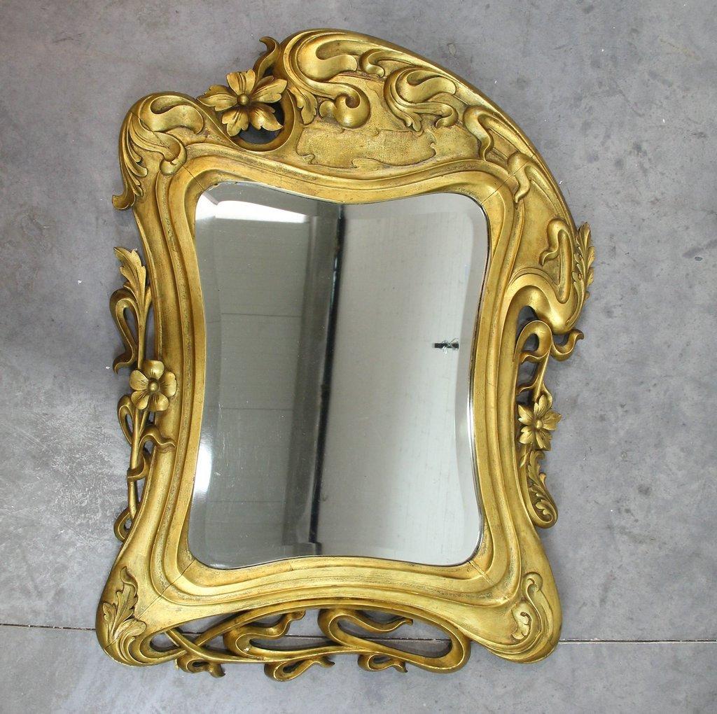 Art Nouveau Mirror for sale at Pamono