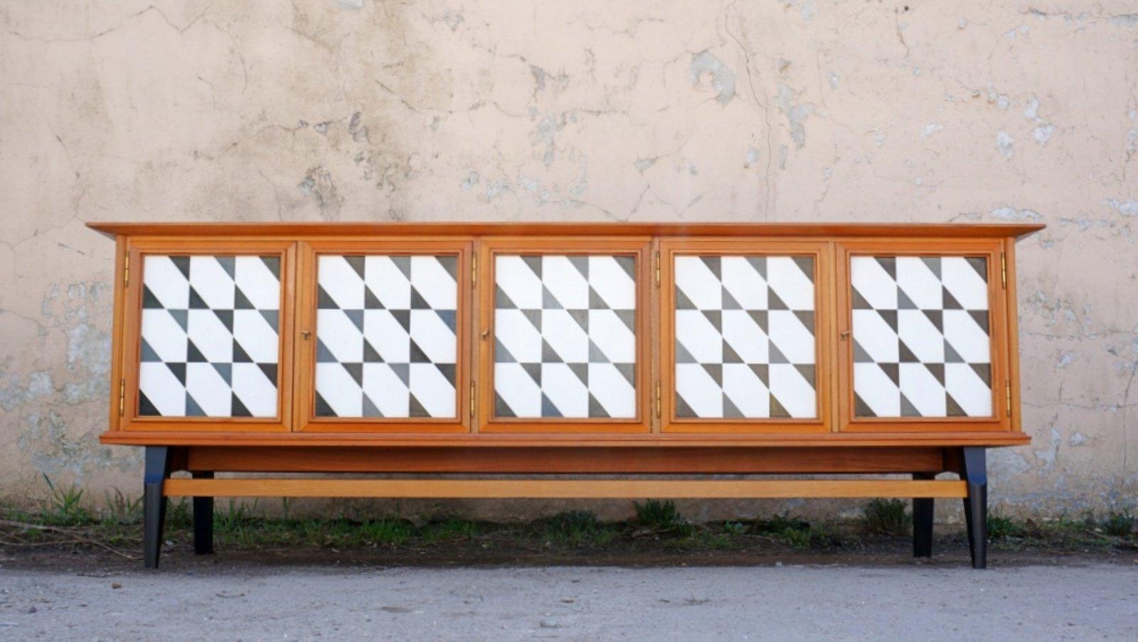 Langes Sideboard, 1970er