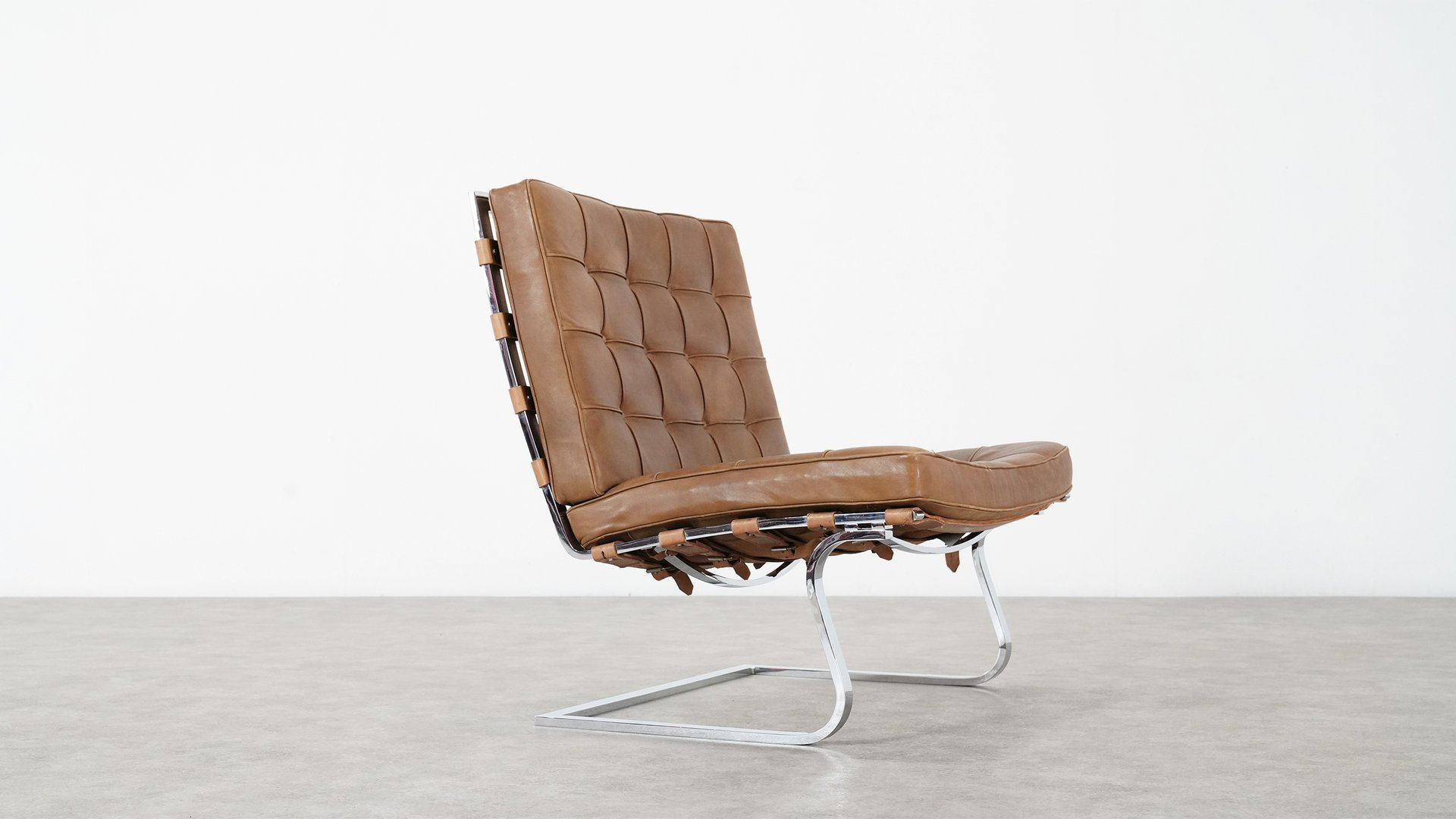 Vintage Tugendhat Lounge Chair Mr 70 By Ludwig Mies Van Der Rohe For