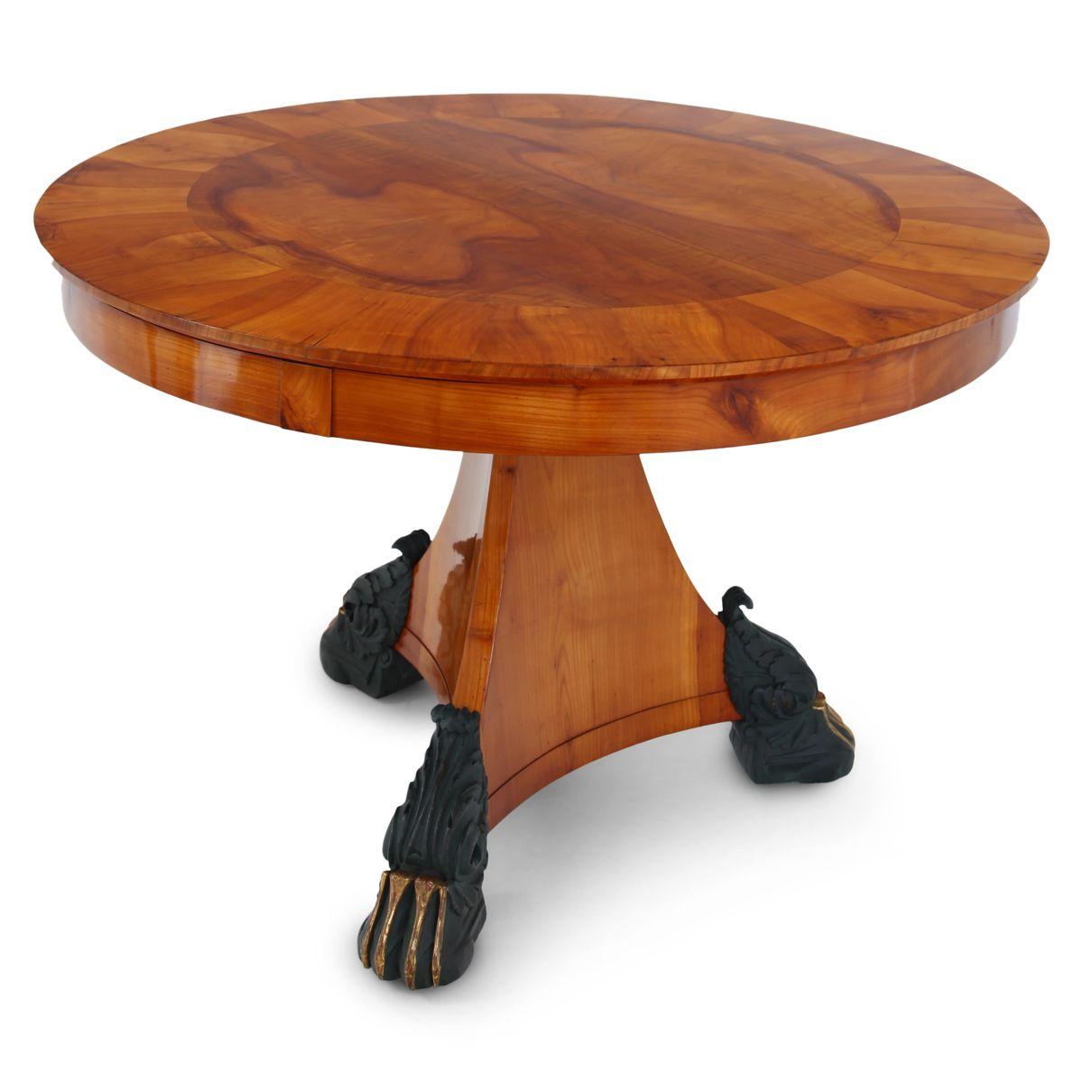Kirschholz Furnier Tisch, 1820er