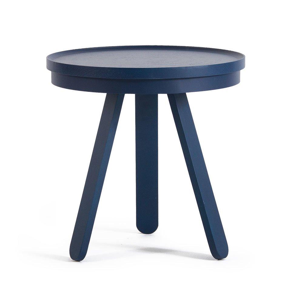 Kleiner blauer Batea Tablett Tisch von Daniel García Sánchez für WOODE...