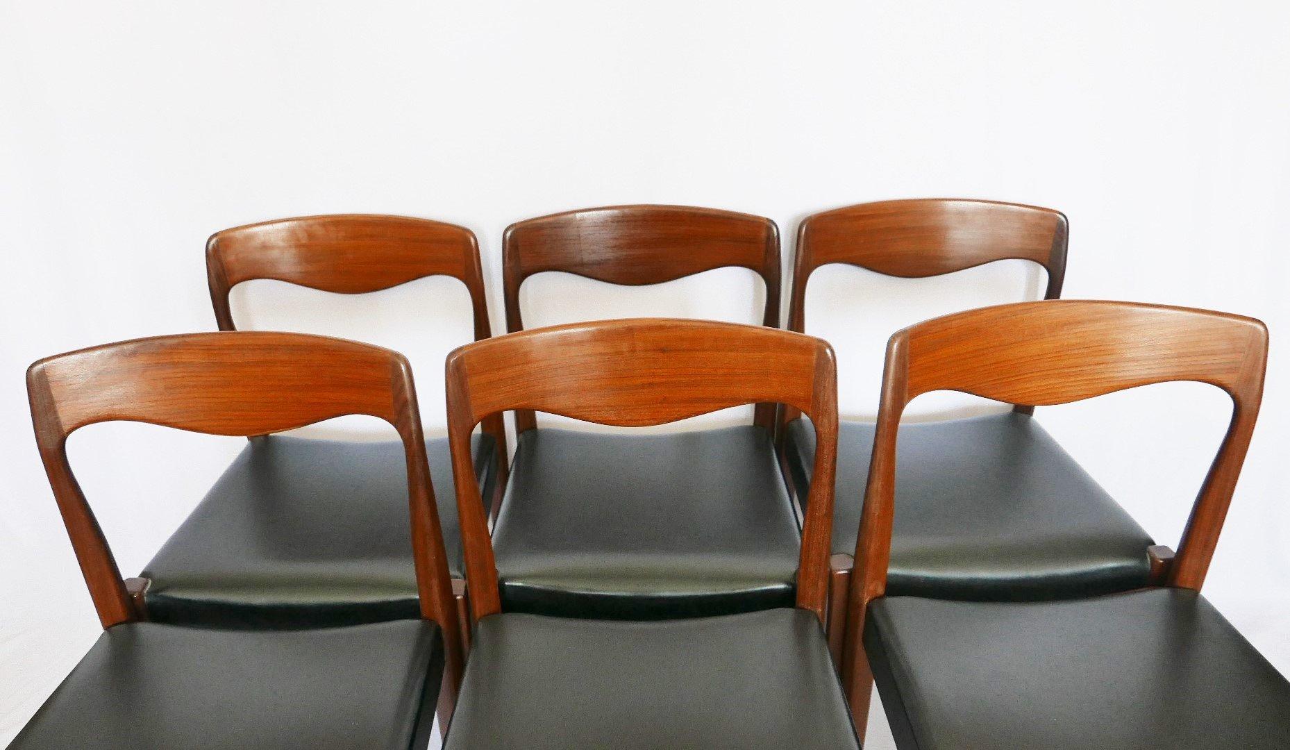 Sedie In Teak Scandinavia Anni 60 Set Di 6 In Vendita Su Pamono
