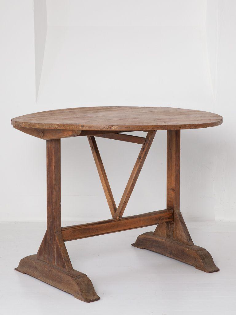 weinernte tisch aus eiche kiefer 19 jh bei pamono kaufen. Black Bedroom Furniture Sets. Home Design Ideas