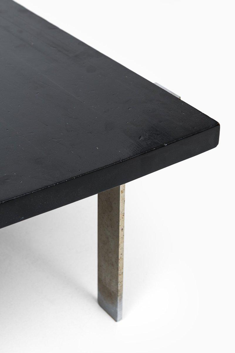 gro er stahl eiche couchtisch von j rgen h j 1960er bei pamono kaufen. Black Bedroom Furniture Sets. Home Design Ideas