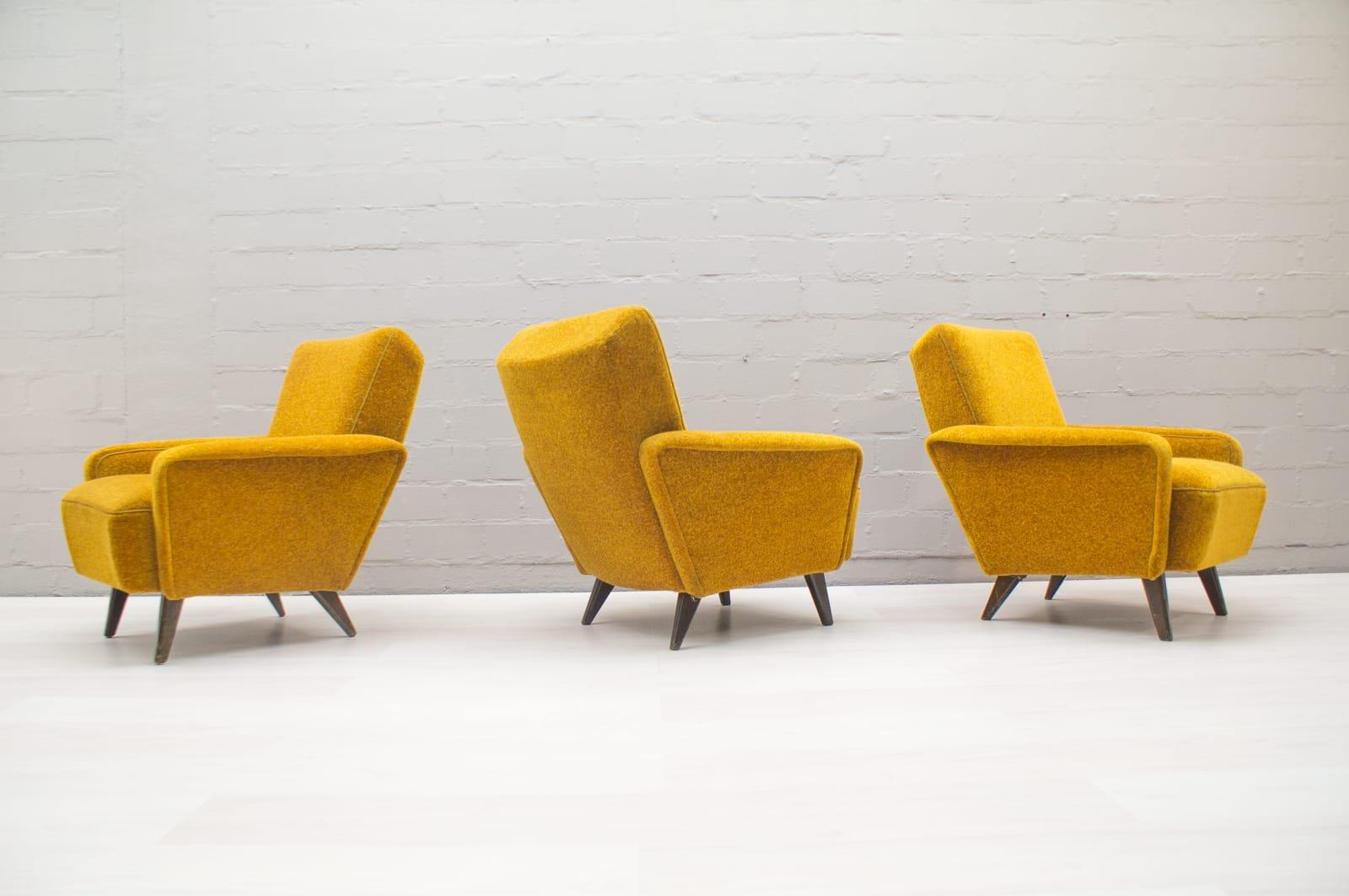 Mid-Century Italian Yellow Living Room Set for sale at Pamono