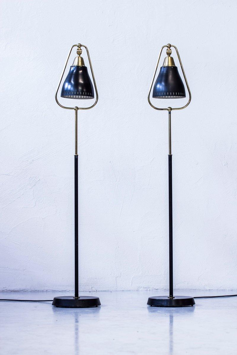 Schwedische Stehlampen von Göteborgs Armaturhantverk, 1950er, 2er Set