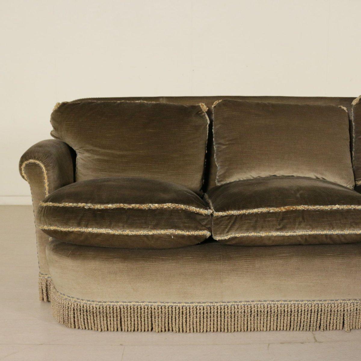 italienisches vintage ecksofa mit 2 hockern 1940er bei pamono kaufen. Black Bedroom Furniture Sets. Home Design Ideas