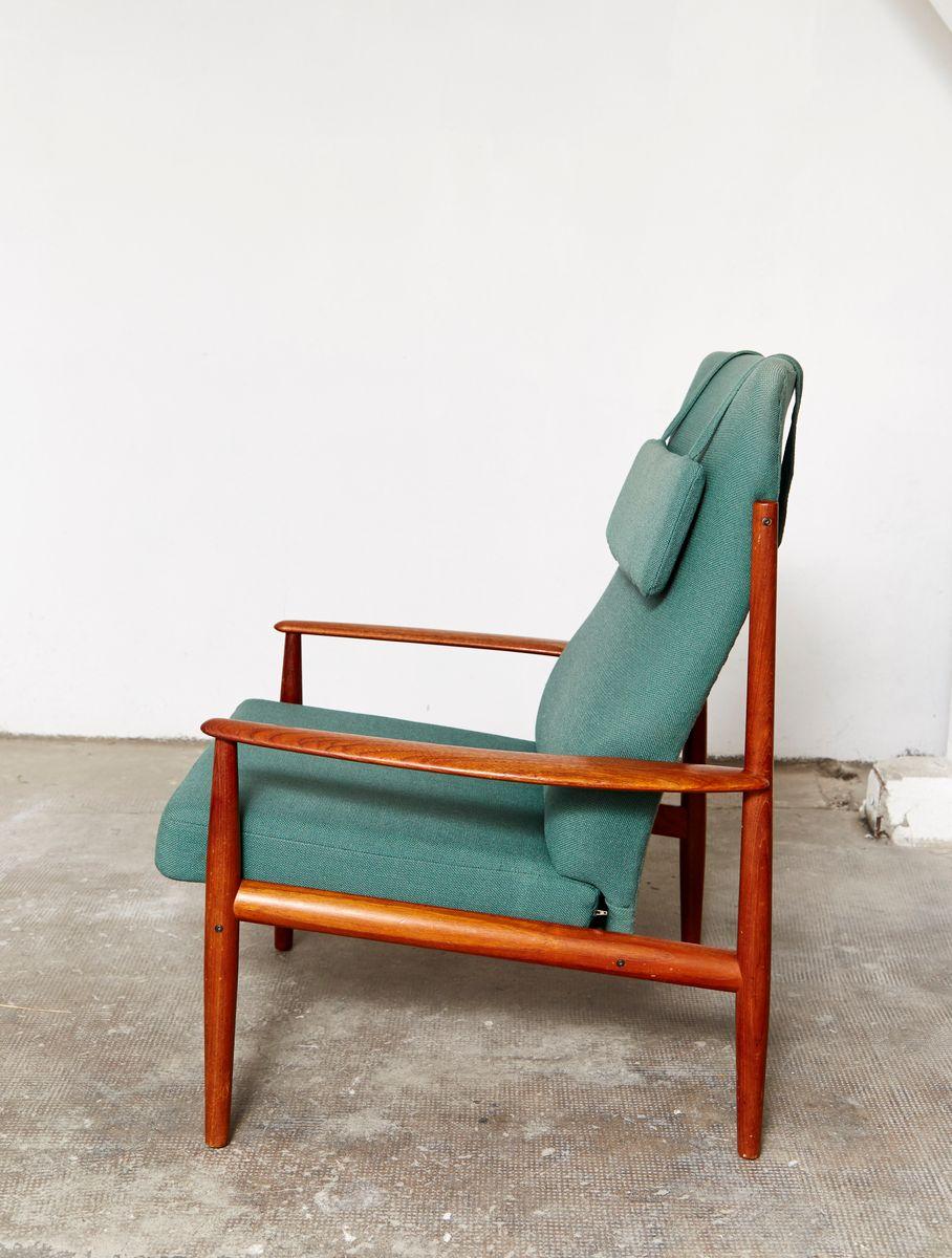 mid century 218 sessel mit hoher r ckenlehne von grete. Black Bedroom Furniture Sets. Home Design Ideas