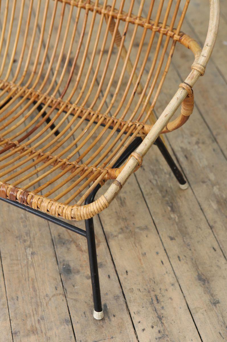 vintage rattan bambus 2 sitzer sofa von roh noordwolde. Black Bedroom Furniture Sets. Home Design Ideas