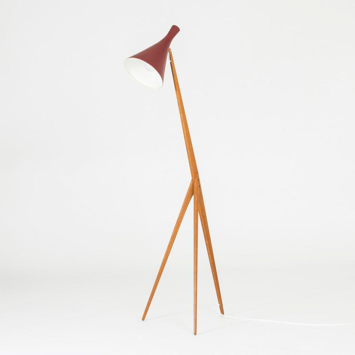 Giraffe Stehlampe von Uno & Östen Kristiansson für Luxus, 1950er