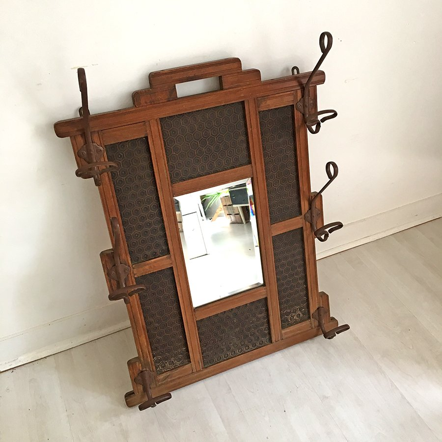vintage garderobe mit spiegel 1930er bei pamono kaufen. Black Bedroom Furniture Sets. Home Design Ideas