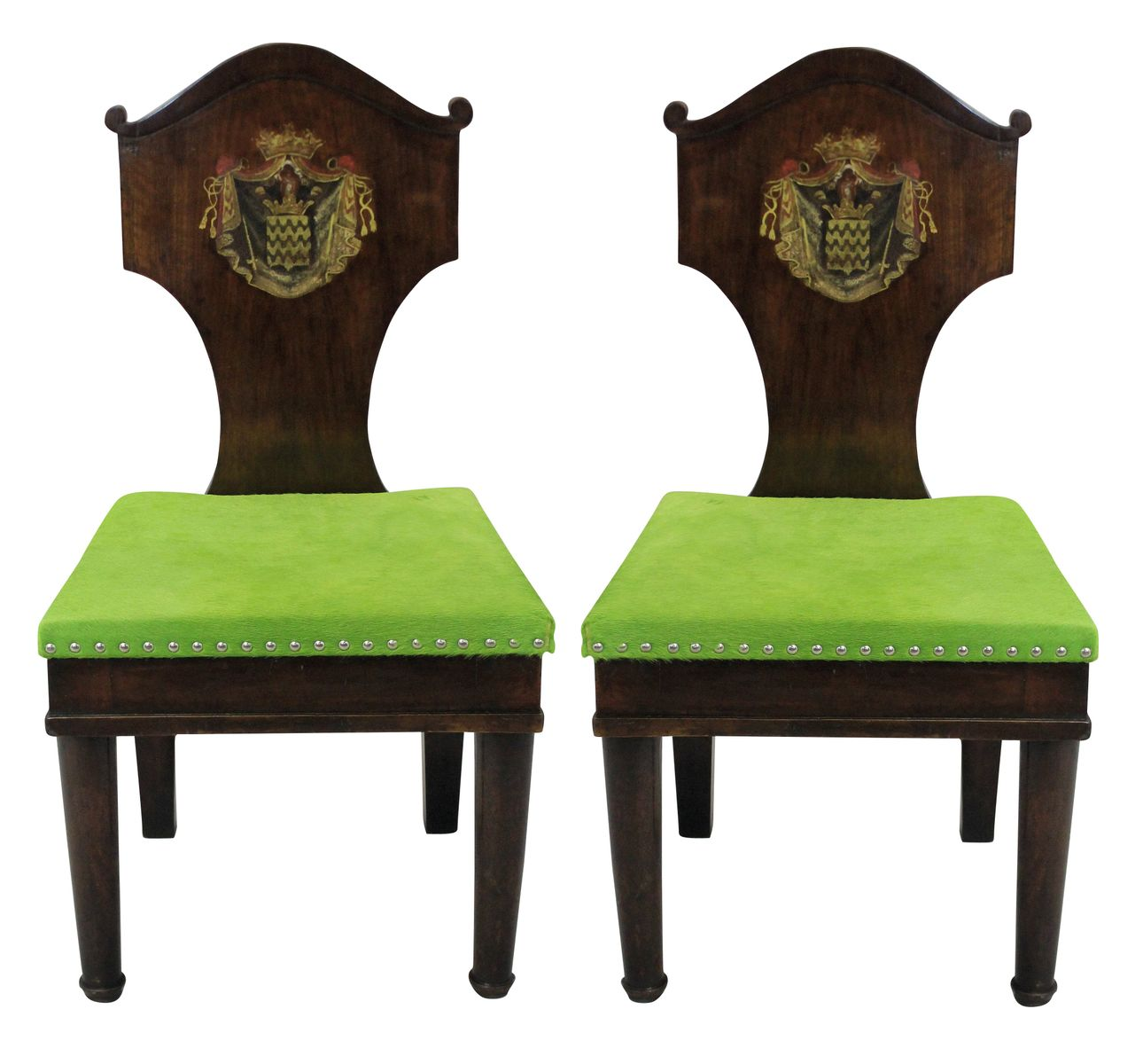 Antique Mahogany Hall Chairs, 1780s - Antique Mahogany Hall Chairs, 1780s For Sale At Pamono