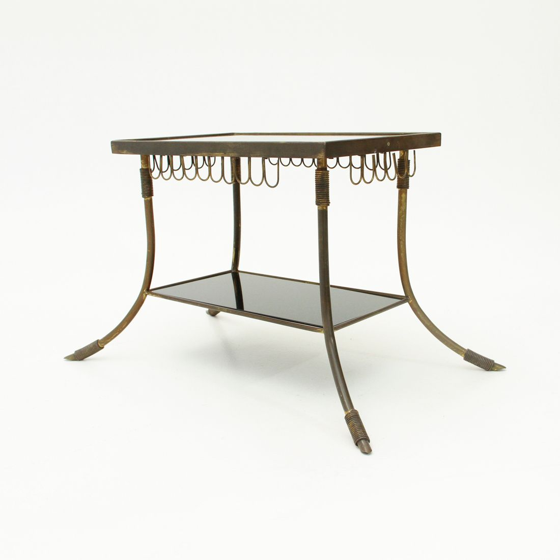 Italian Brass & Glass Coffee Table, 1950s For Sale At Pamono