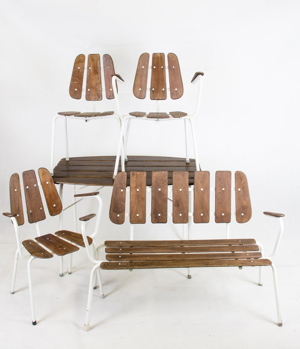 teak gartenm bel 1960er bei pamono kaufen. Black Bedroom Furniture Sets. Home Design Ideas