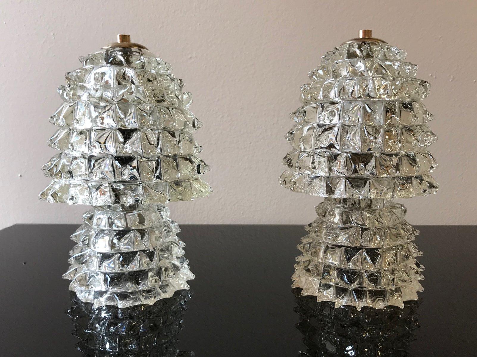 Tischlampen von Barovier & Toso, 1940er, 2er Set