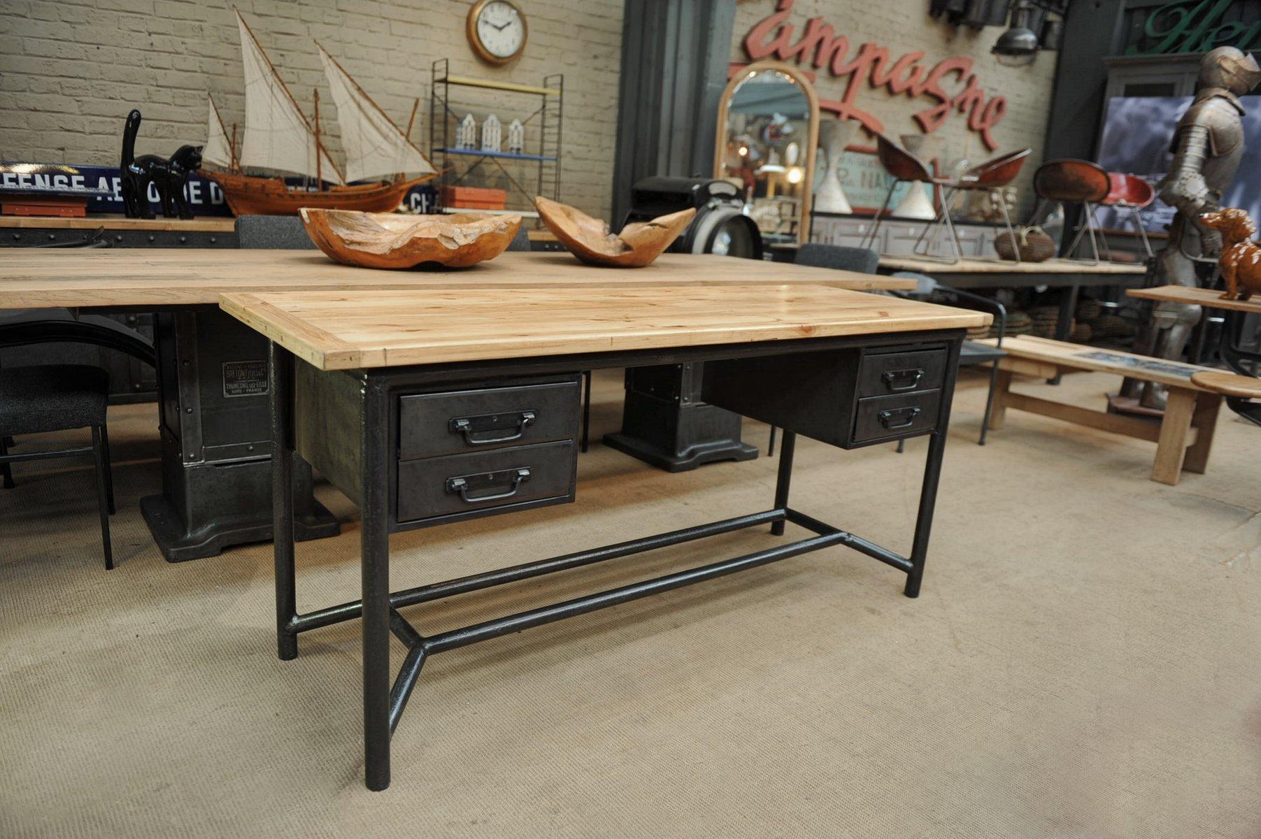 Metal Wood Desk From Schäfer 1950s