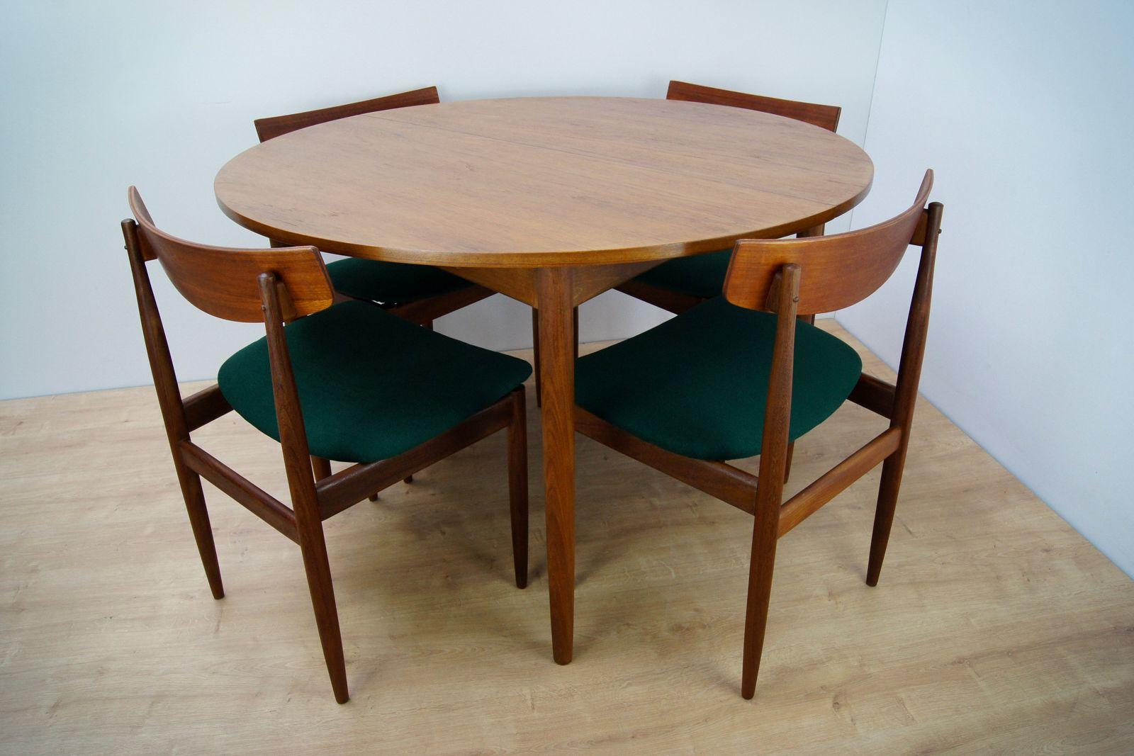 esstisch und 4 st hle von g plan 1960er bei pamono kaufen. Black Bedroom Furniture Sets. Home Design Ideas