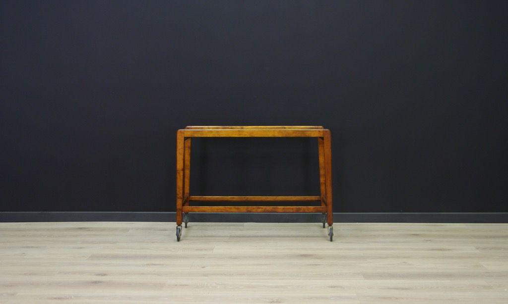 Dänischer Mid-Century Buchenholz & Glas Couchtisch