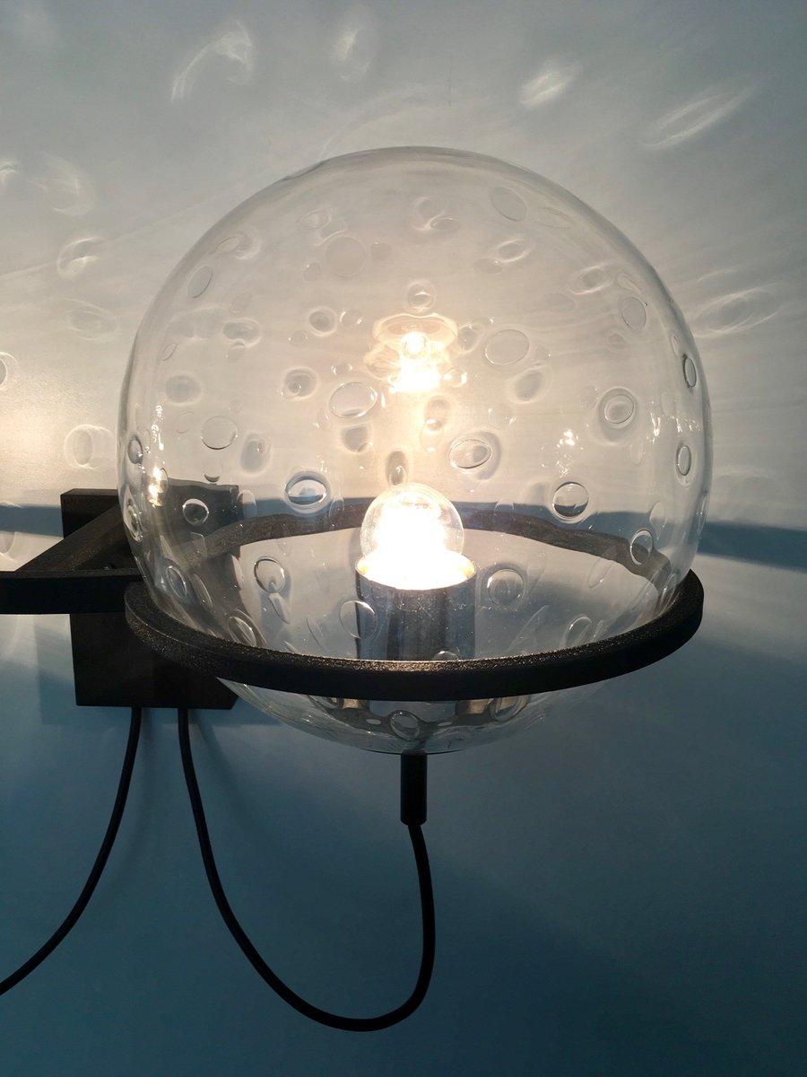 vintage wandlampe mit glaskugeln von franck ligtelijn f r raak bei pamono kaufen. Black Bedroom Furniture Sets. Home Design Ideas