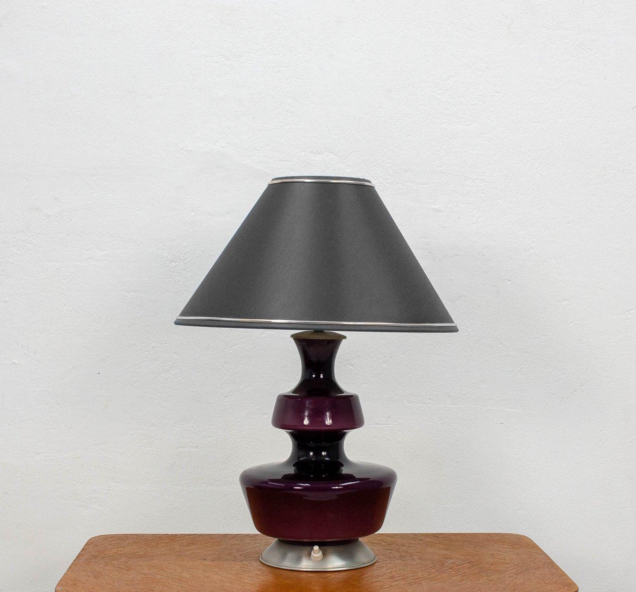 Lila Tischlampen von Holmegaard, 1960er, 2er Set