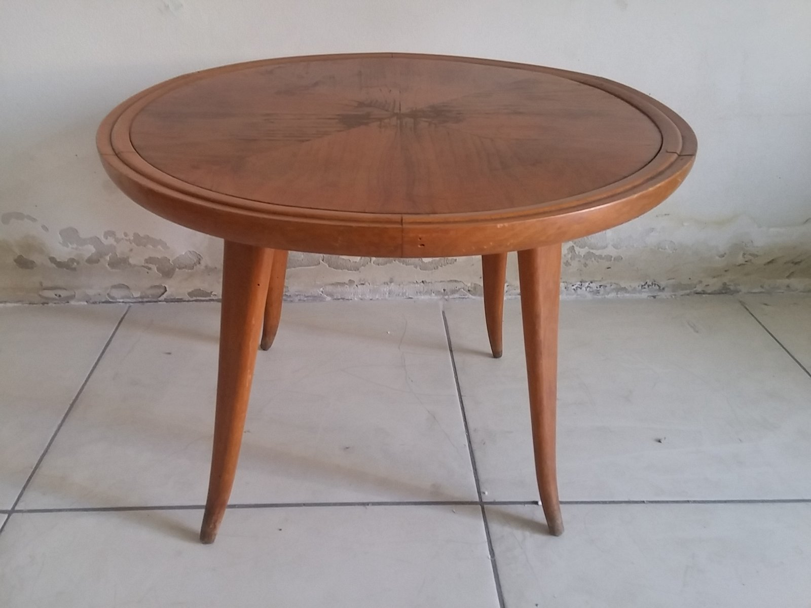 Cherry wood coffee table 1950s