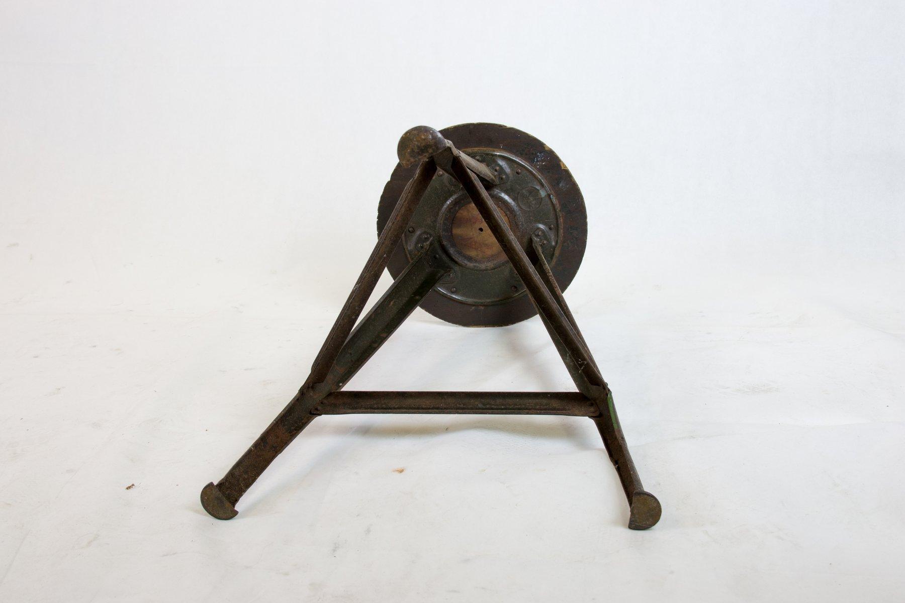 Sgabello da lavoro vintage di robert wagner per rowac in vendita