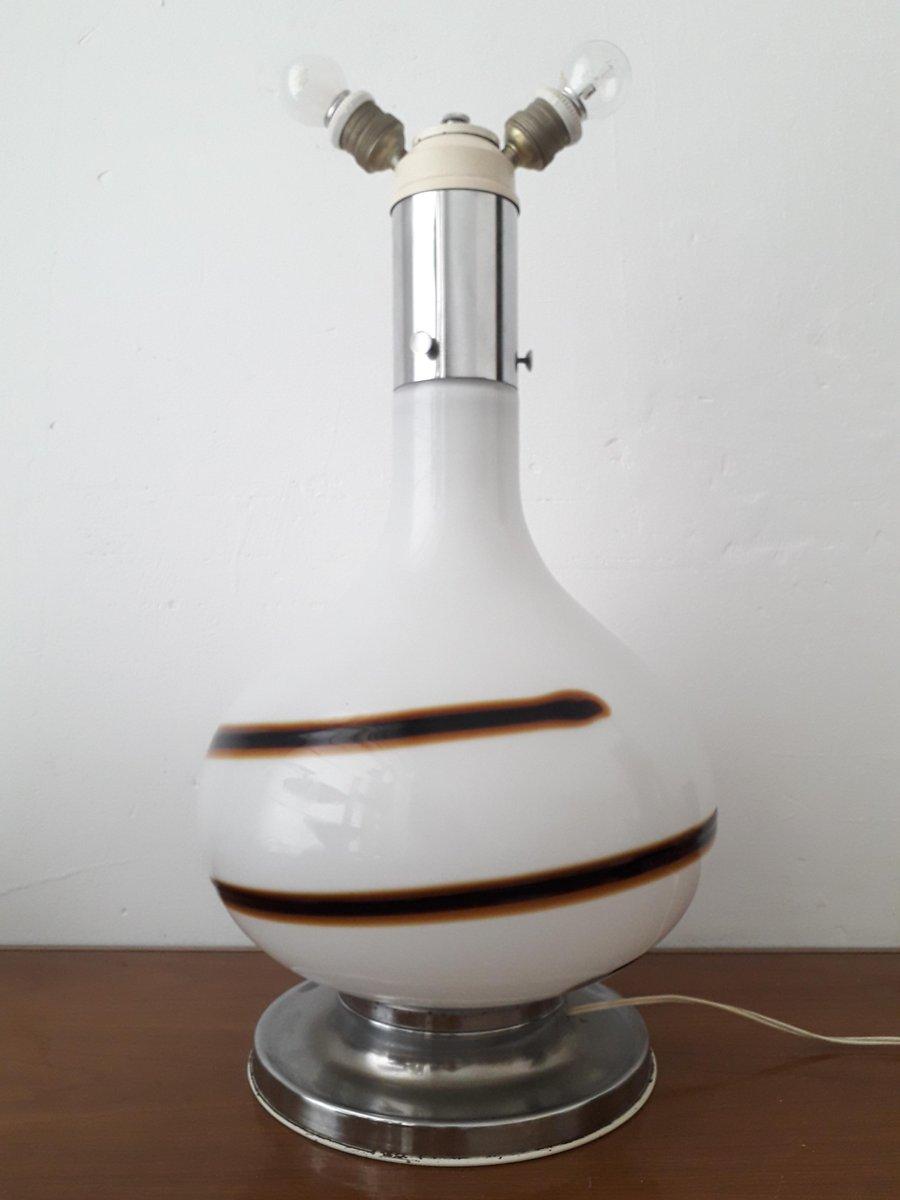 Vintage Murano Glas Tischlampe, 1960er