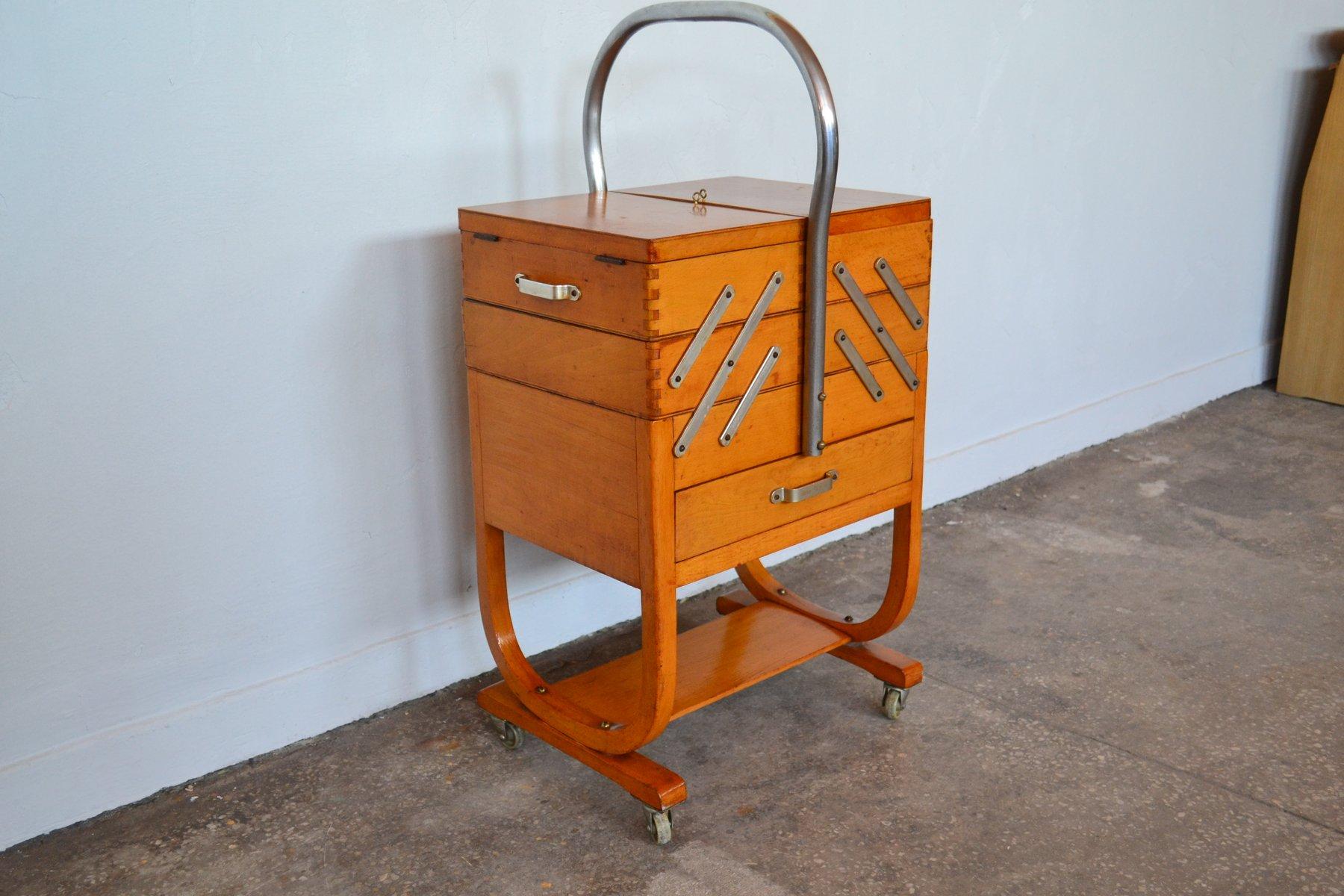 Belgisches Nähkästchen von Torck, 1950er | Dekoration > Aufbewahrung und Ordnung > Kästchen | Silber | Holz