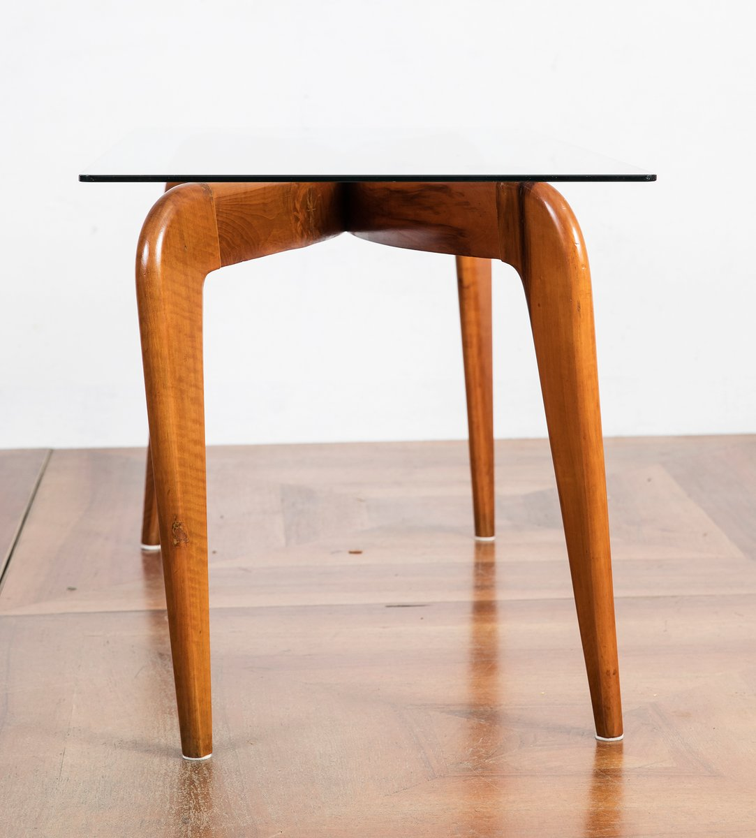 For Sale Cherry Wood Coffee Table: Cherry Wood Coffee Table By Giò Ponti For Fontana Arte