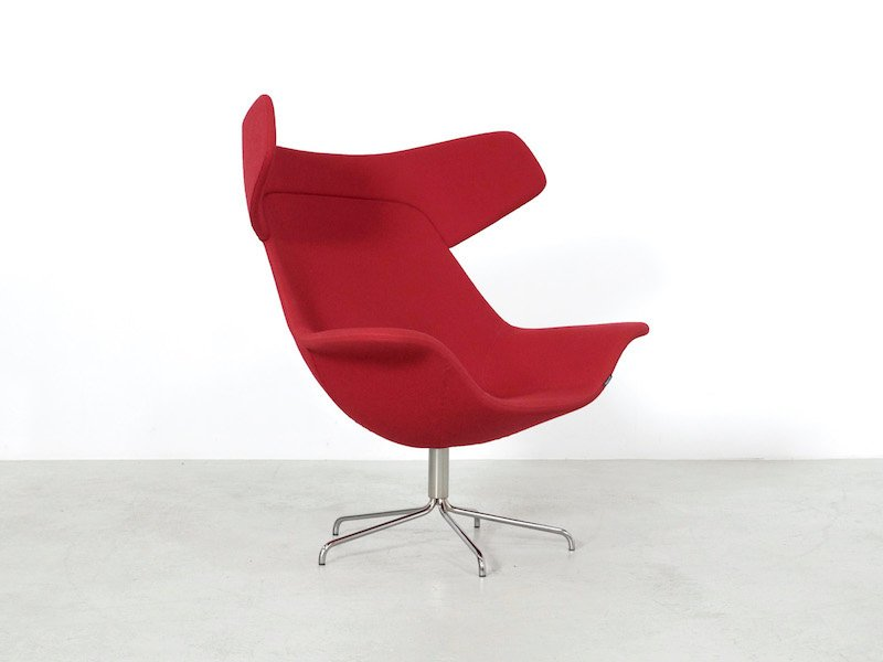 Roter oyster sessel von michael sodeau f r offecct 2008 for Roter sessel