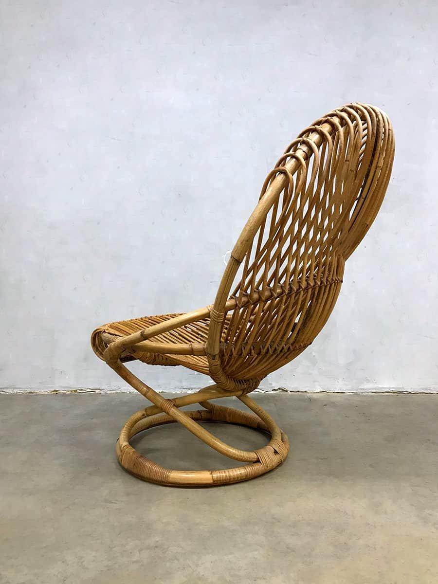 fauteuil vintage en osier par giovanni travasa pour pierantonio bonacina en vente sur pamono. Black Bedroom Furniture Sets. Home Design Ideas