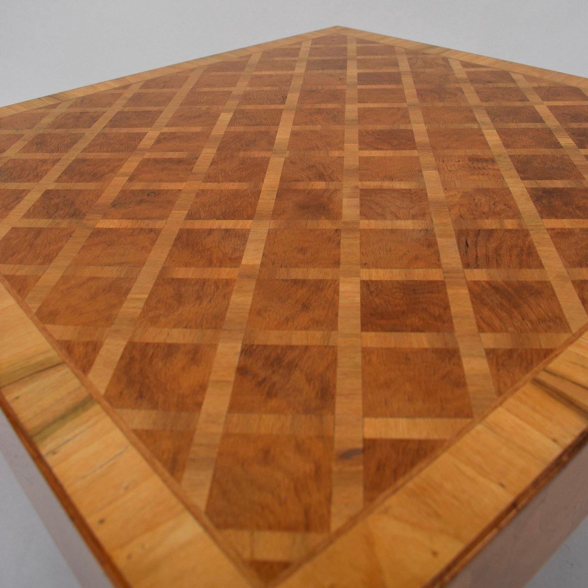 Burl Coffee Table Mid Century: Mid-Century Art Deco Burl Wood Coffee Table For Sale At Pamono