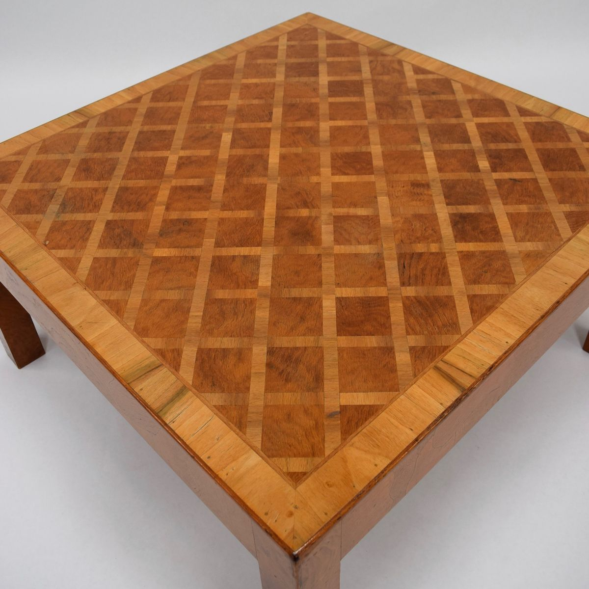Mid-Century Art Deco Burl Wood Coffee Table For Sale At Pamono