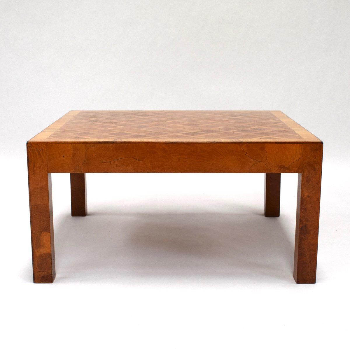 Mid century art deco burl wood coffee table