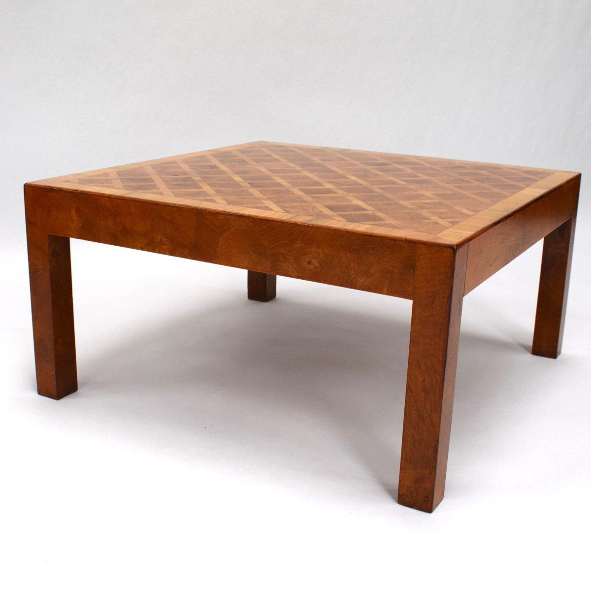 mid century art deco wurzelholz couchtisch bei pamono kaufen. Black Bedroom Furniture Sets. Home Design Ideas