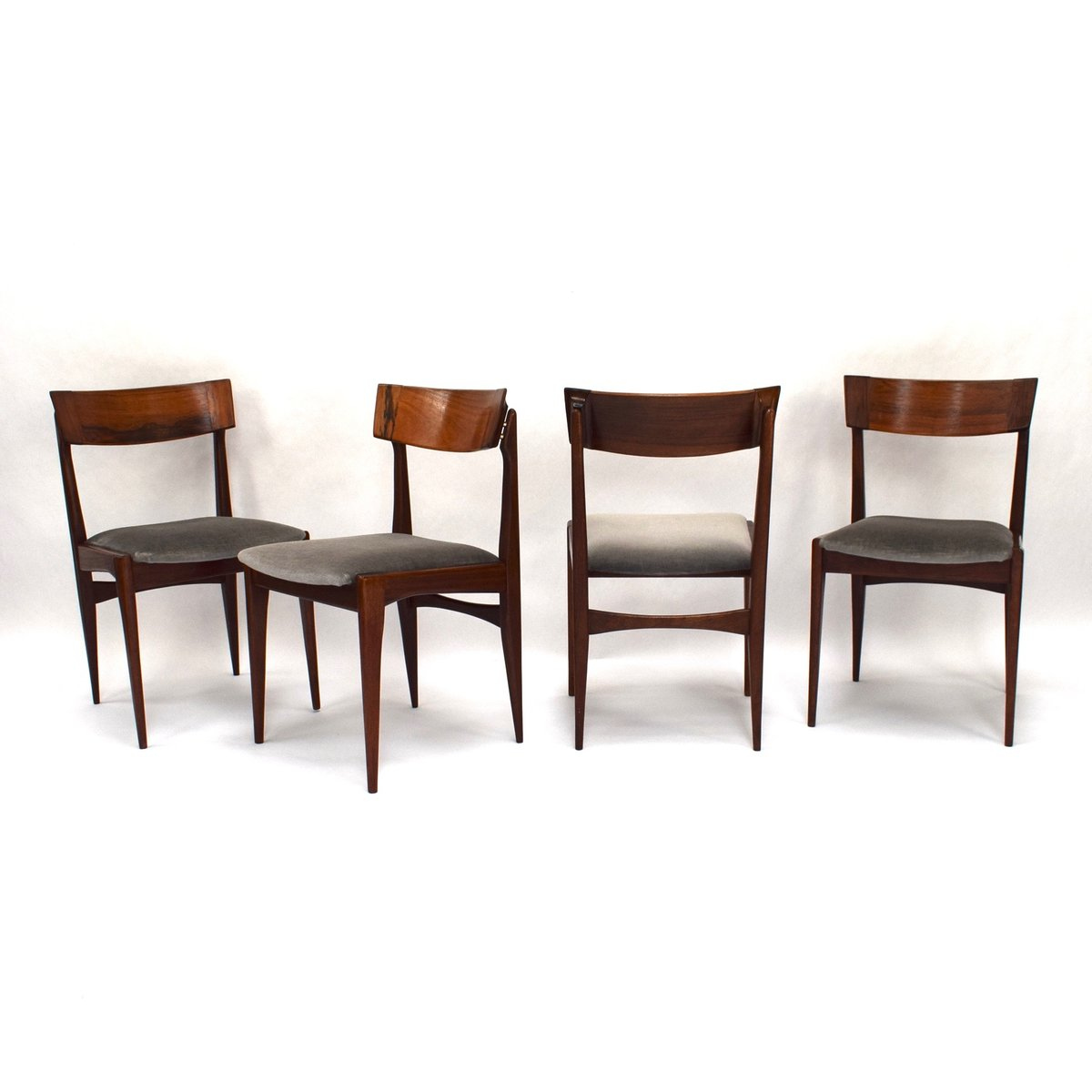 mid century brazilian rosewood dining chairs set of 4 for sale at pamono. Black Bedroom Furniture Sets. Home Design Ideas