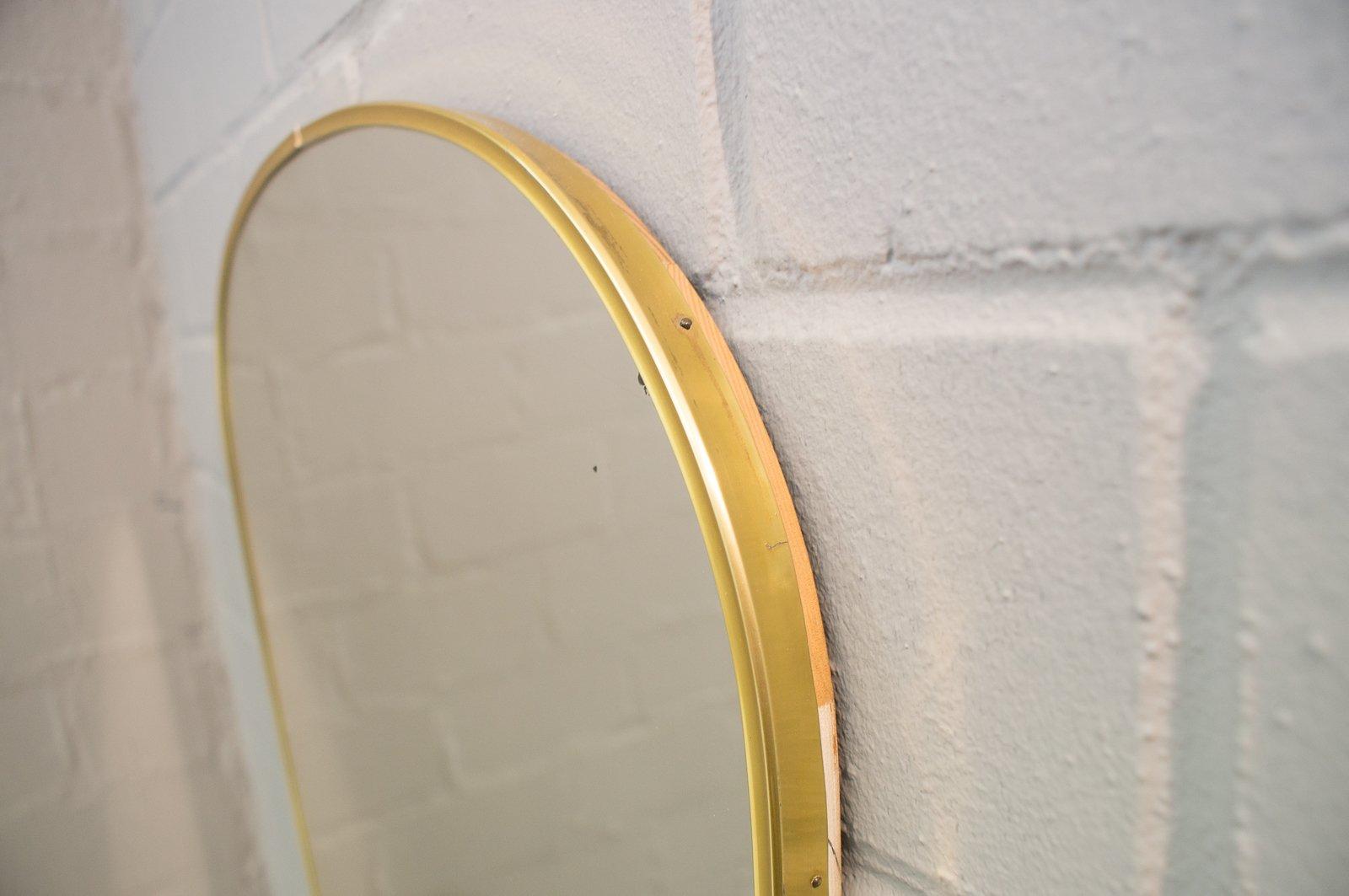 gro er messing spiegel 1950er bei pamono kaufen. Black Bedroom Furniture Sets. Home Design Ideas