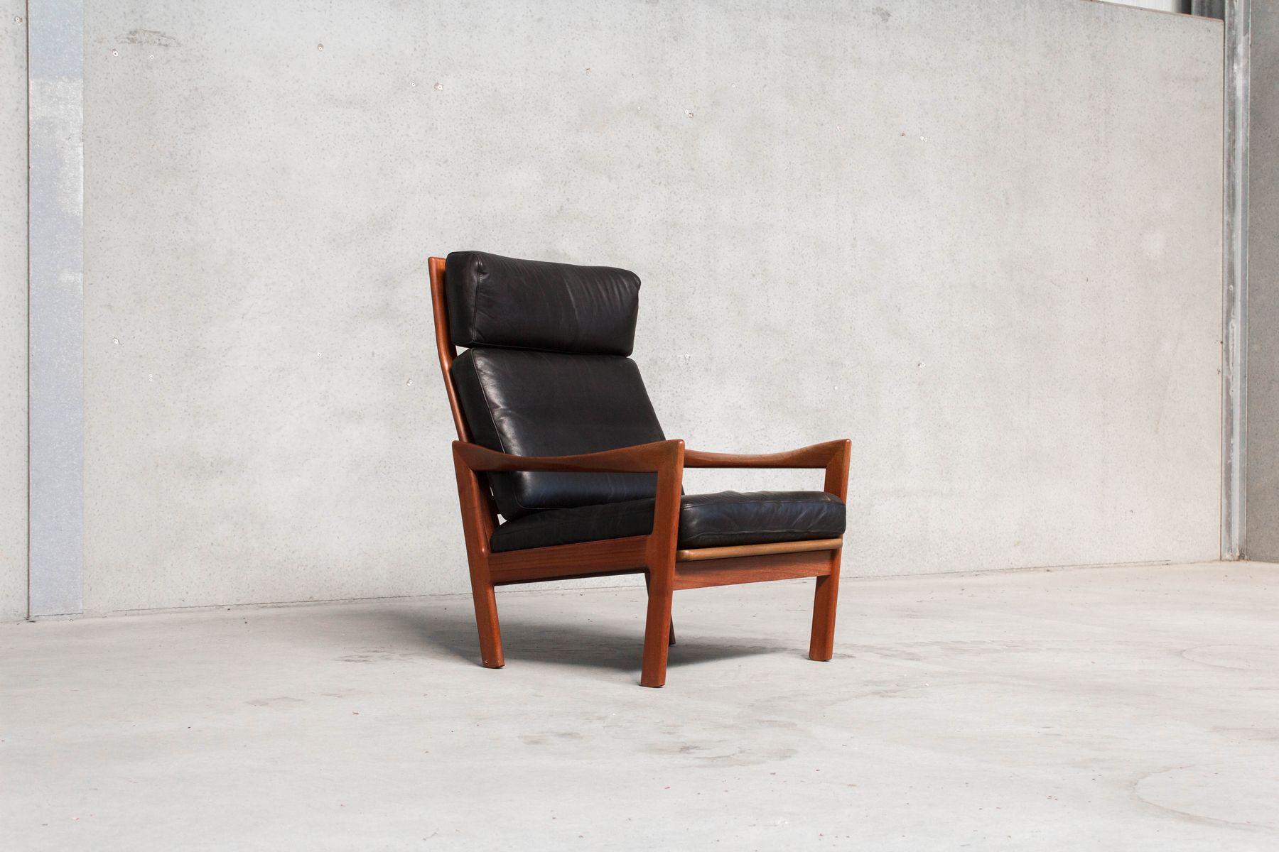 d nischer vintage sessel hocker von ilum wikkels f r niels eilersen bei pamono kaufen. Black Bedroom Furniture Sets. Home Design Ideas