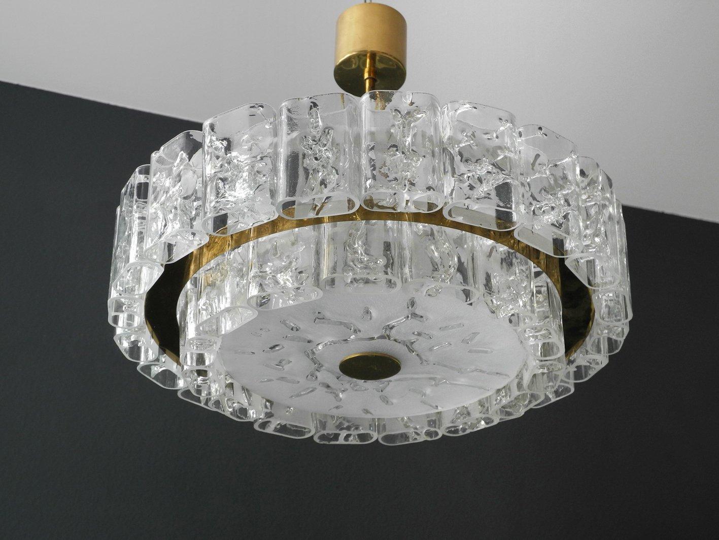 Kronleuchter Modern Halogen ~ Großer mid century modern kristallglas kronleuchter von doria