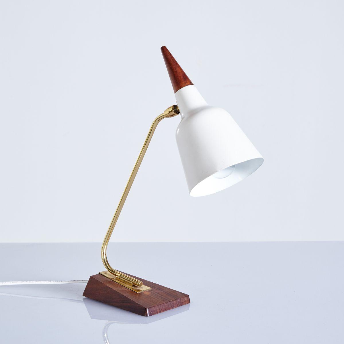 Mid-Century Tischlampe mit Teak Gestell, 1960er