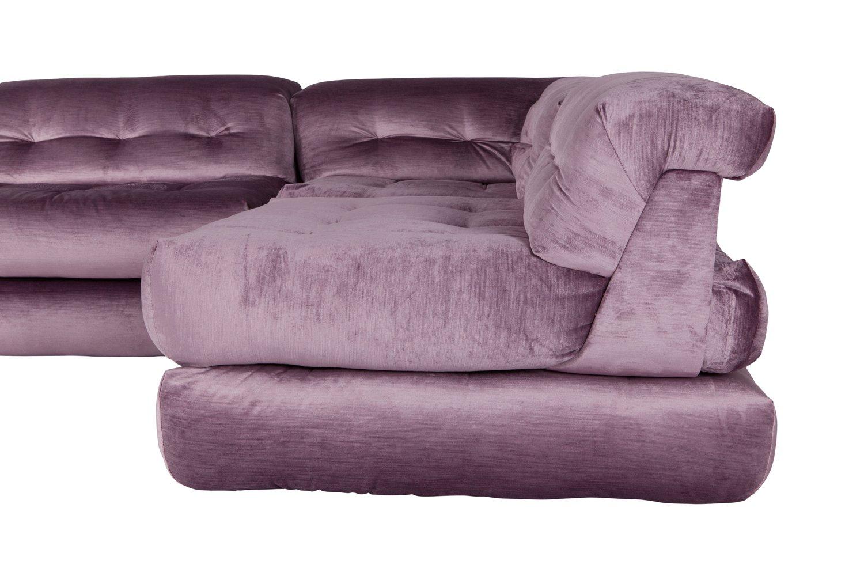 Mah Jong Modular Sofa In Purple Velvet By Hans Hopfer