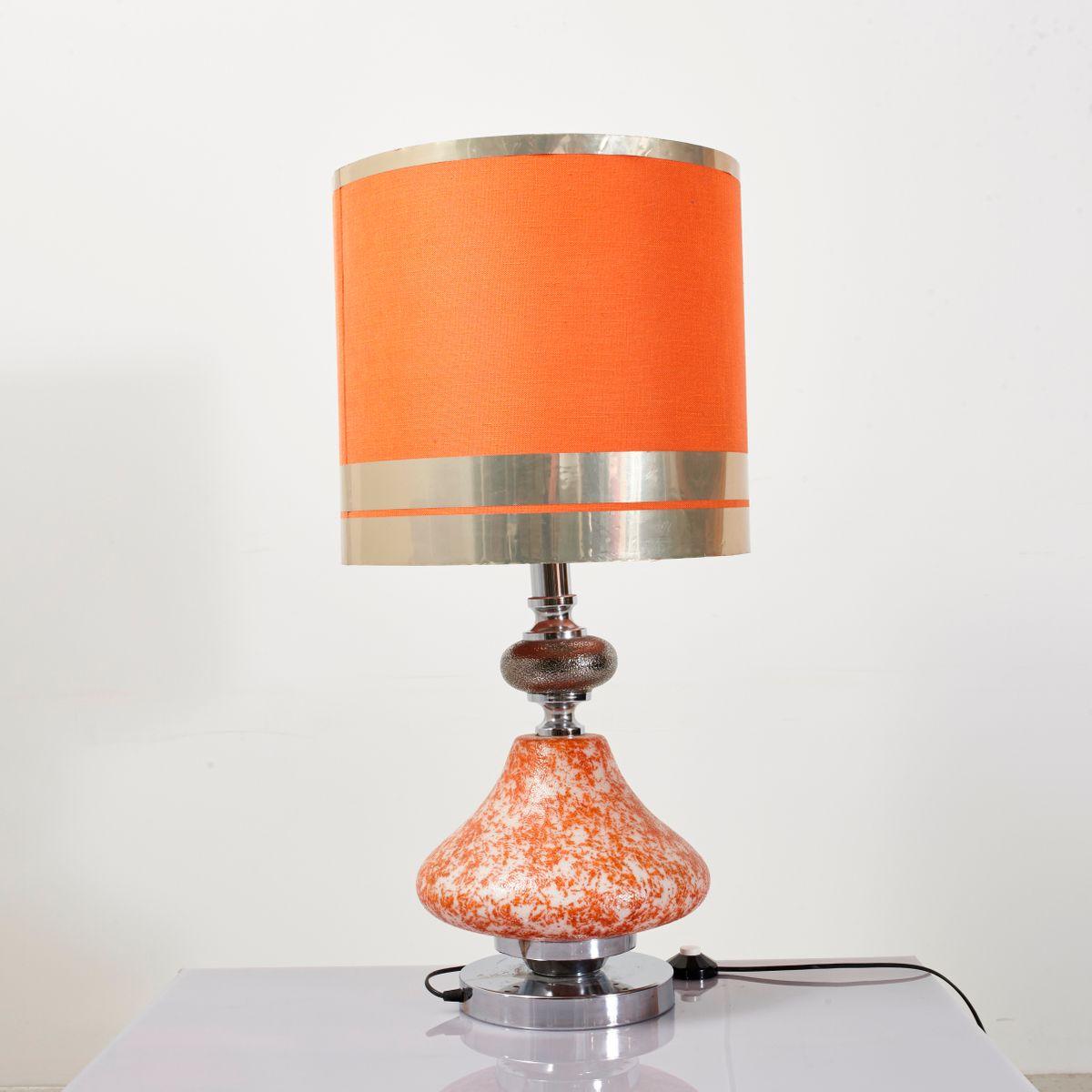 Große Tischlampe mit beleuchtetem Gestell, 1950er