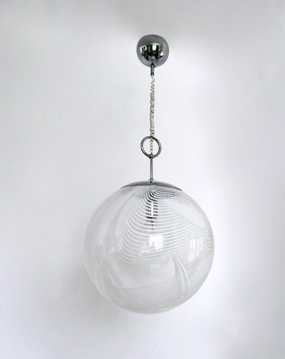Runde Murano Glas Hängelampe von Lino Tagliapietra für La Murrina, 197...