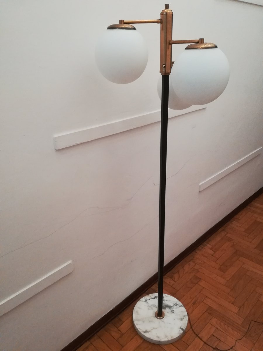 Italienische Mid-Century 3-Kugel Stehlampe, 1950er
