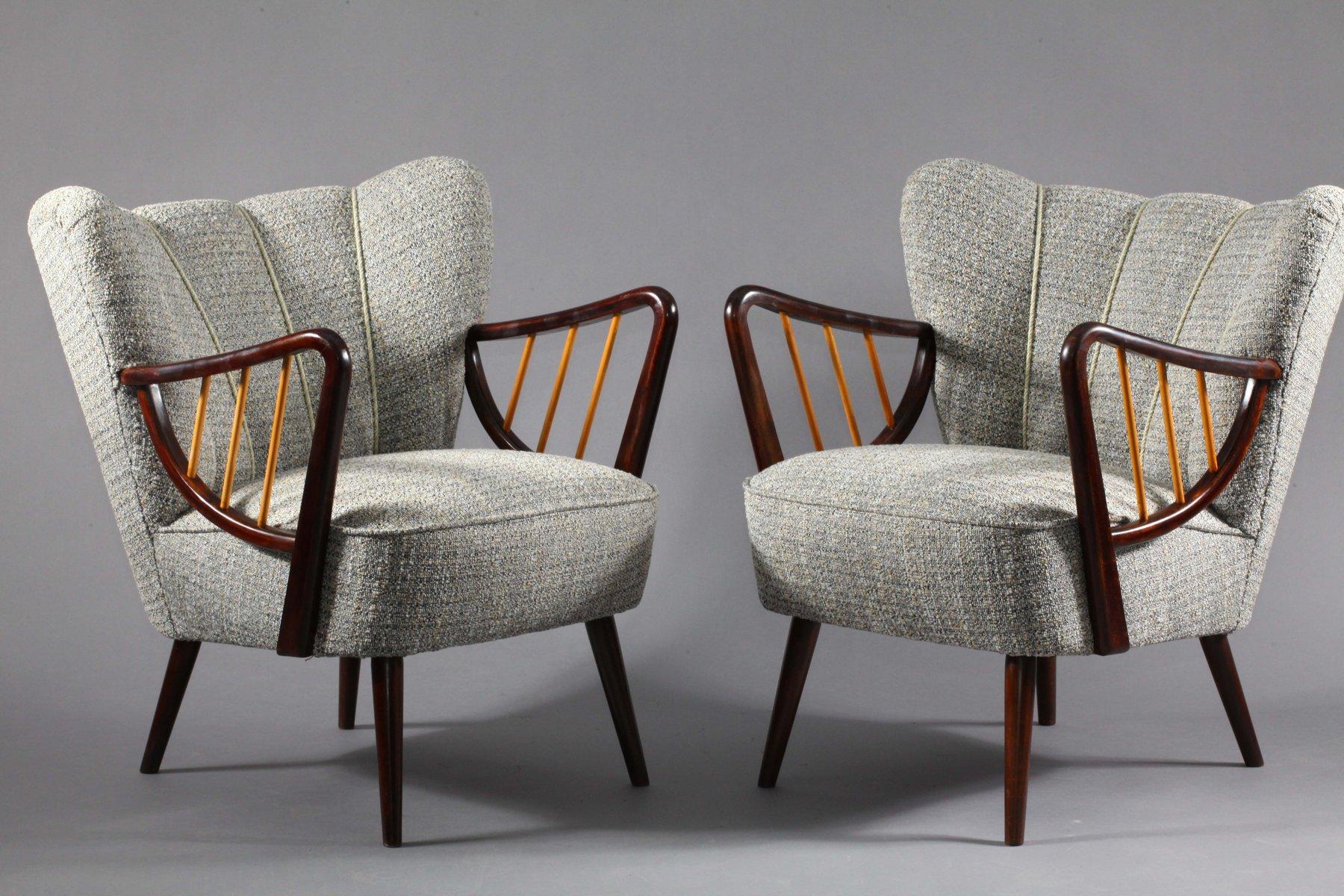 Vintage Sessel aus Buche, 2er Set