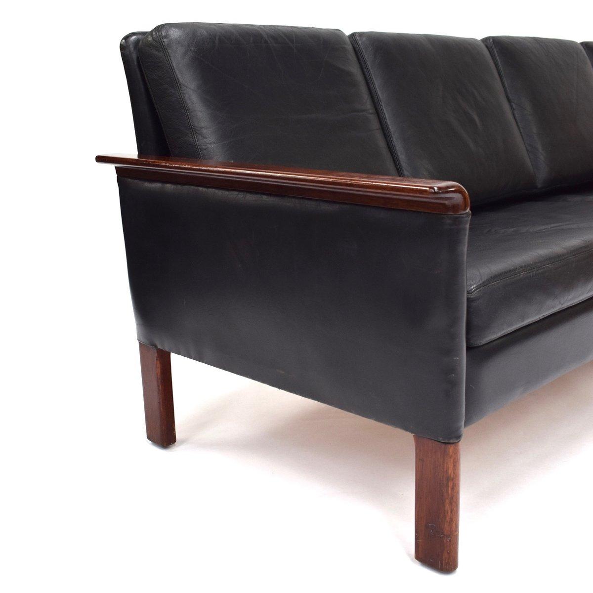 Leather Sofa Wholesalers Uk: Scandinavian Black Leather Sofa, 1950s For Sale At Pamono