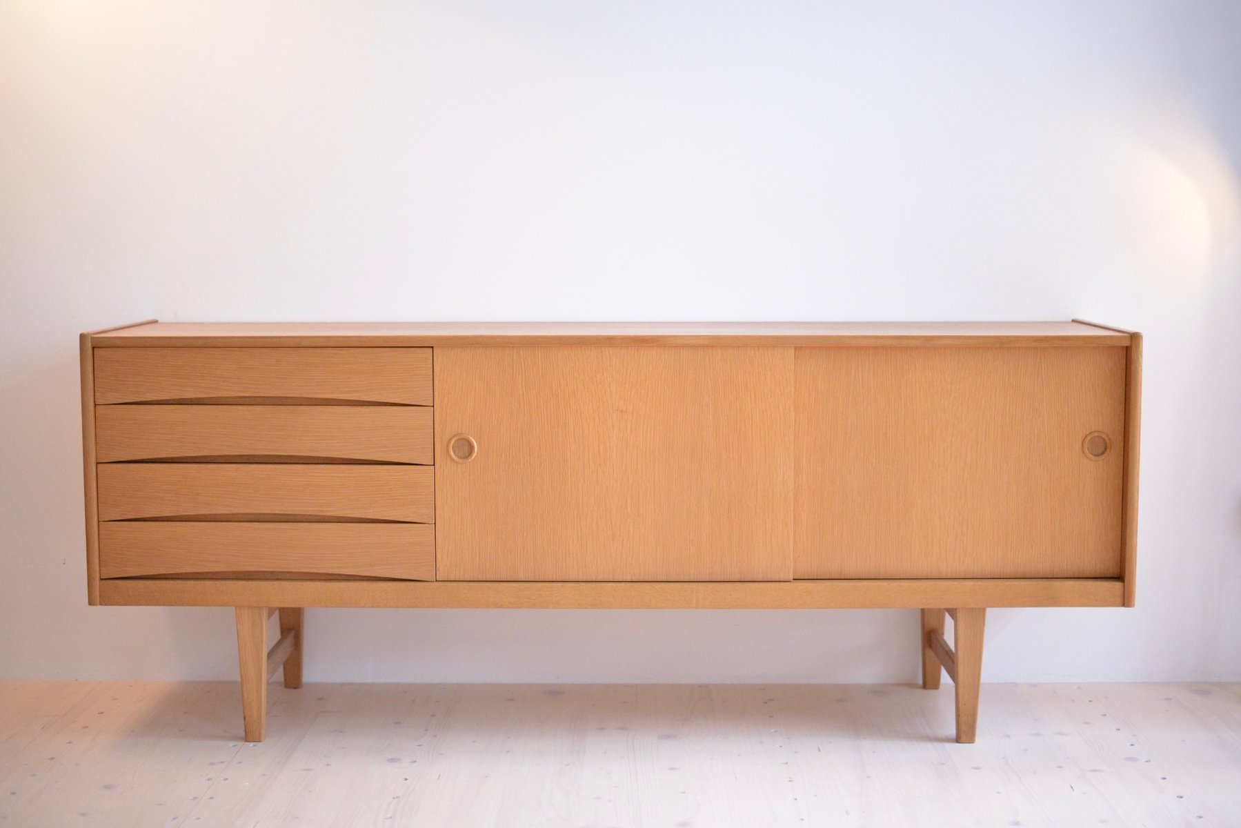 Credenza Ikea Uk : Oak sideboard by erik wørts for ikea s sale at pamono