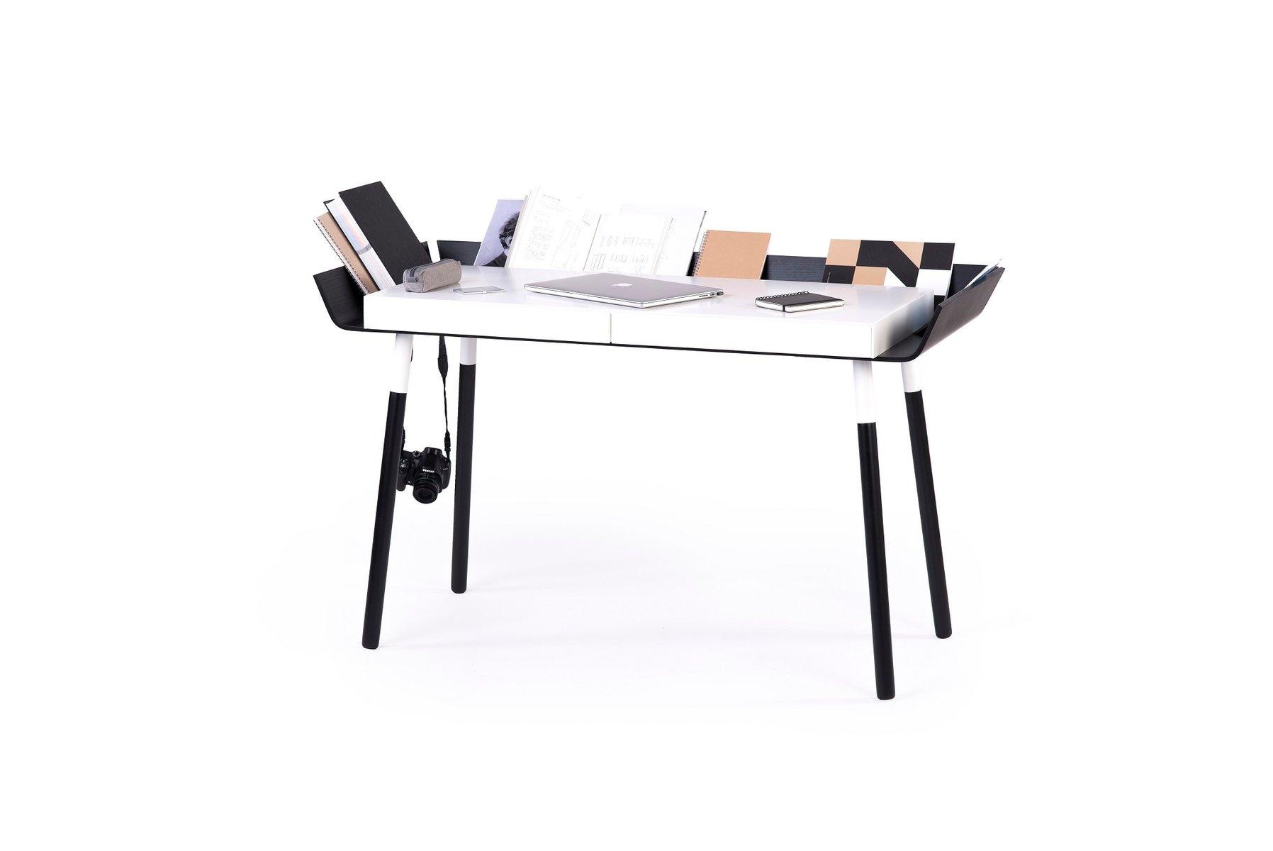 gro er my writing schreibtisch in schwarz wei von f r emko bei pamono kaufen. Black Bedroom Furniture Sets. Home Design Ideas